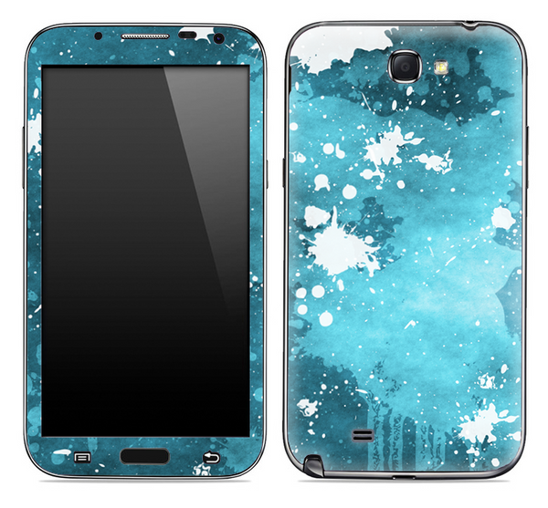 Blue Paint Splatter Skin for the Samsung Galaxy Note 1 or 2