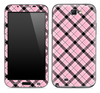 Pink Plaid Skin for the Samsung Galaxy Note 1 or 2
