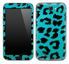 Turquoise Cheetah Print Skin for the Samsung Galaxy Note 1 or 2