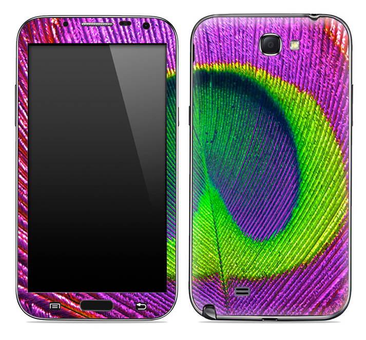 Neon Peacock 2 Skin for the Samsung Galaxy Note 1 or 2