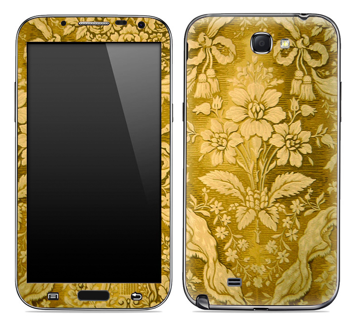 Antique Gold Leaf Skin for the Samsung Galaxy Note 1 or 2