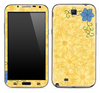 Orange Floral Skin for the Samsung Galaxy Note 1 or 2