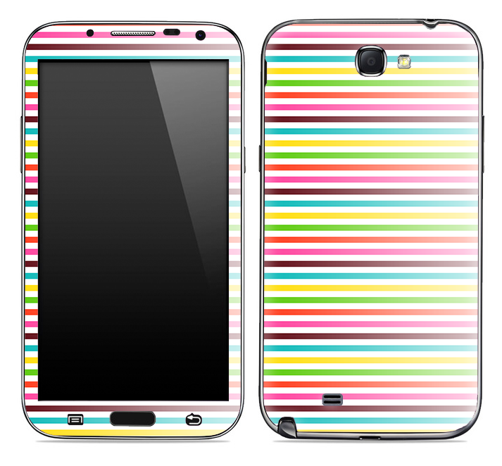 Bright Neon Striped Skin for the Samsung Galaxy Note 1 or 2