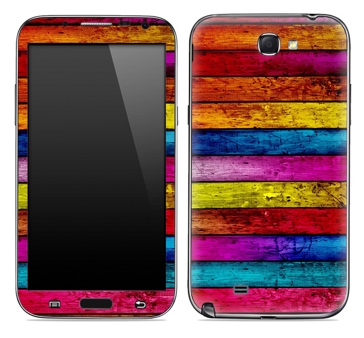 Neon Wood Planks Skin for the Samsung Galaxy Note 1 or 2