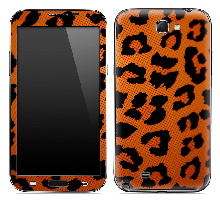 Orange Cheetah Animal Print Skin for the Samsung Galaxy Note 1 or 2