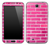 Pink Brick Wall Skin for the Samsung Galaxy Note 1 or 2