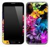 Abstract Neon Floral Skin for the Samsung Galaxy Note 1 or 2
