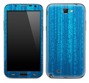 Blue Coded Wall Skin for the Samsung Galaxy Note 1 or 2