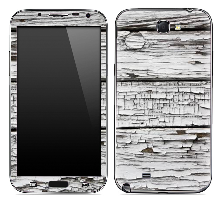 Aged White Wood Skin for the Samsung Galaxy Note 1 or 2