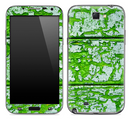 Green Peeled Wood Skin for the Samsung Galaxy Note 1 or 2