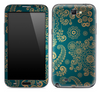 Green & Gold Pattern Skin for the Samsung Galaxy Note 1 or 2
