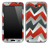 Orange Abstract ZigZag Chevron Pattern Skin for the Samsung Galaxy Note 1 or 2