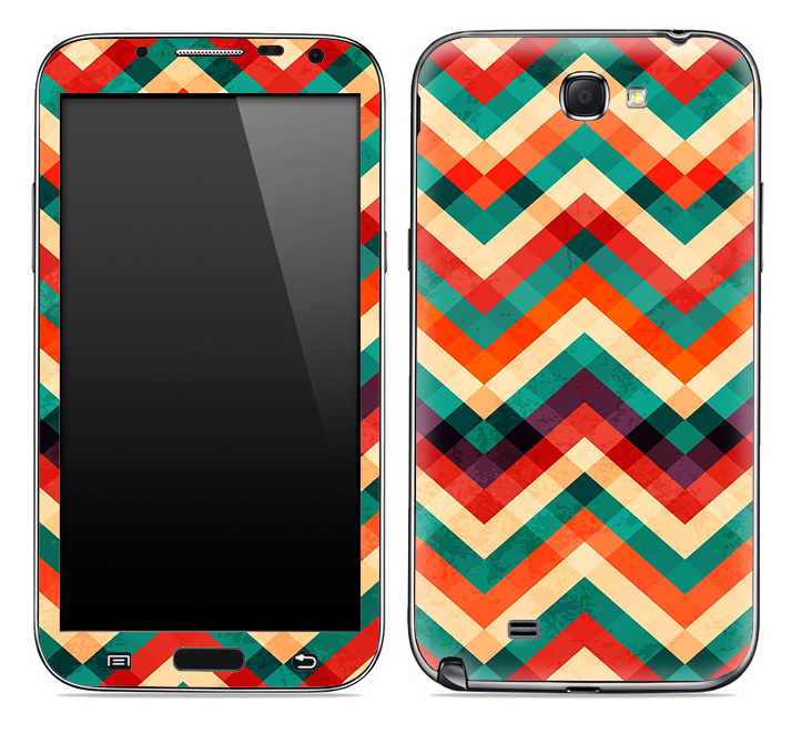 Abstract Color Chevron Pattern Skin for the Samsung Galaxy Note 1 or 2