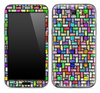 Abstract Color Tile Pattern Skin for the Samsung Galaxy Note 1 or 2