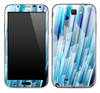 Blue Abstract 3D Pattern Skin for the Samsung Galaxy Note 1 or 2