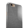 Slate Gray Scratched Fabric iPhone 6/6s or 6/6s Plus 2-Piece Hybrid INK-Fuzed Case