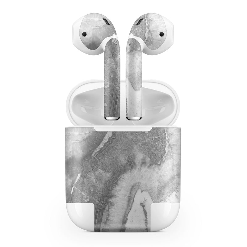 Slate Luxe Marble - Full Body Skin Decal Wrap Kit for the Wireless Bluetooth Apple Airpods Pro, AirPods Gen 1 or Gen 2 with Wireless Charging