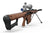 Smooth-Grained Wooden Plank - Barrett Model 82A1 .50 Caliber Rifle Skin-Kit