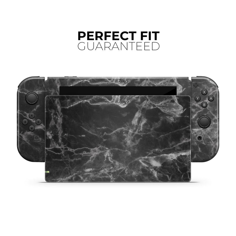 Smooth Black Marble - Full Body Skin Decal Wrap Kit for Nintendo Switch Console & Dock, Pro Controller, Switch Lite, 3DS XL, 2DS XL, DSi, Wii