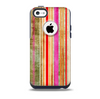 Smudged Pink Painted Stripes Pattern Skin for the iPhone 5c OtterBox Commuter Case