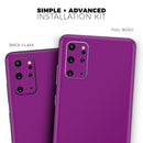Solid Dark Purple - Skin-Kit for the Samsung Galaxy S-Series S20, S20 Plus, S20 Ultra , S10 & others (All Galaxy Devices Available)