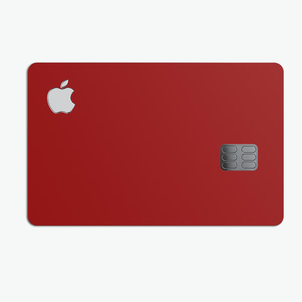 Solid Dark Red - Premium Protective Decal Skin-Kit for the Apple Credit Card