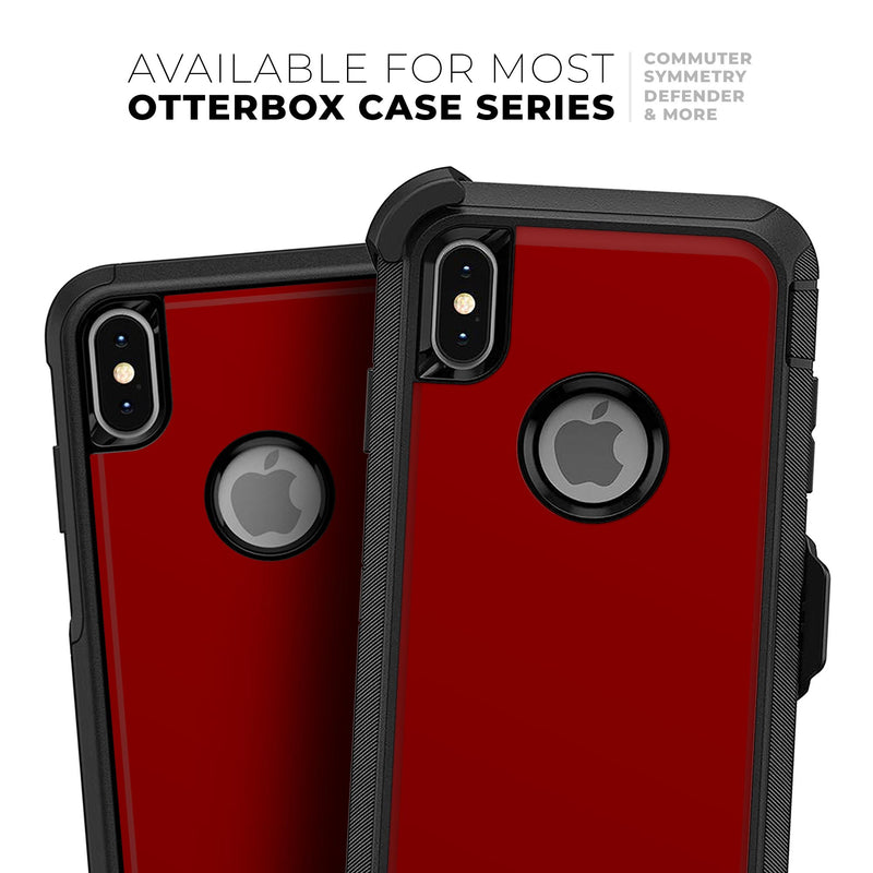 Solid Dark Red - Skin Kit for the iPhone OtterBox Cases