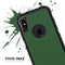 Solid Hunter Green - Skin Kit for the iPhone OtterBox Cases