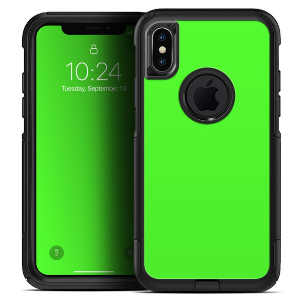 Solid Lime Green V2 - Skin Kit for the iPhone OtterBox Cases