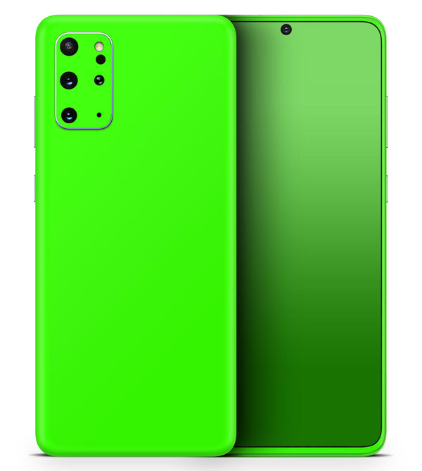 Solid Lime Green V2 - Skin-Kit for the Samsung Galaxy S-Series S20, S20 Plus, S20 Ultra , S10 & others (All Galaxy Devices Available)