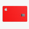 Solid Red - Premium Protective Decal Skin-Kit for the Apple Credit Card