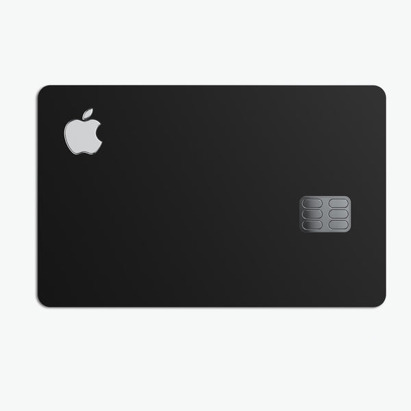Solid State Black - Premium Protective Decal Skin-Kit for the Apple Credit Card