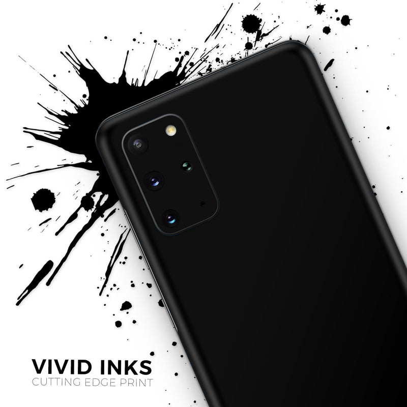 Solid State Black - Skin-Kit for the Samsung Galaxy S-Series S20, S20 Plus, S20 Ultra , S10 & others (All Galaxy Devices Available)
