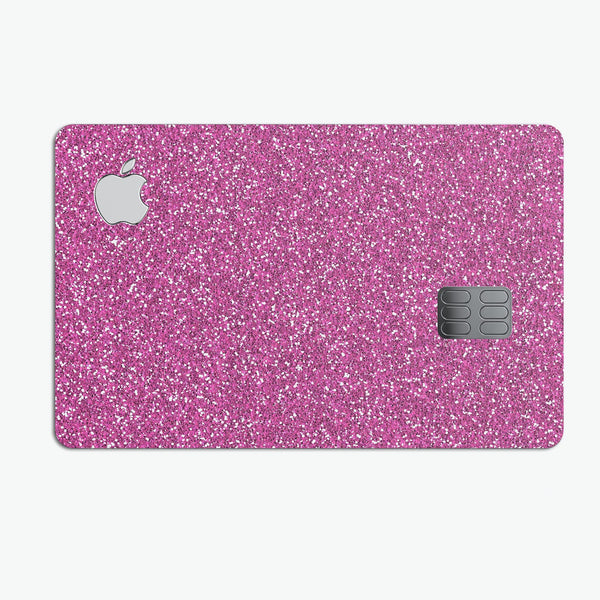 Sparkling Pink Ultra Metallic Glitter - Premium Protective Decal Skin-Kit for the Apple Credit Card