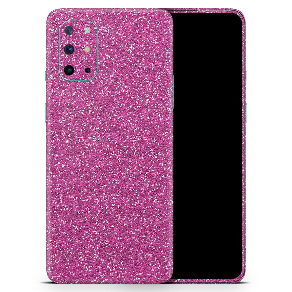 Sparkling Pink Ultra Metallic Glitter - Full Body Skin Decal Wrap Kit for OnePlus Phones