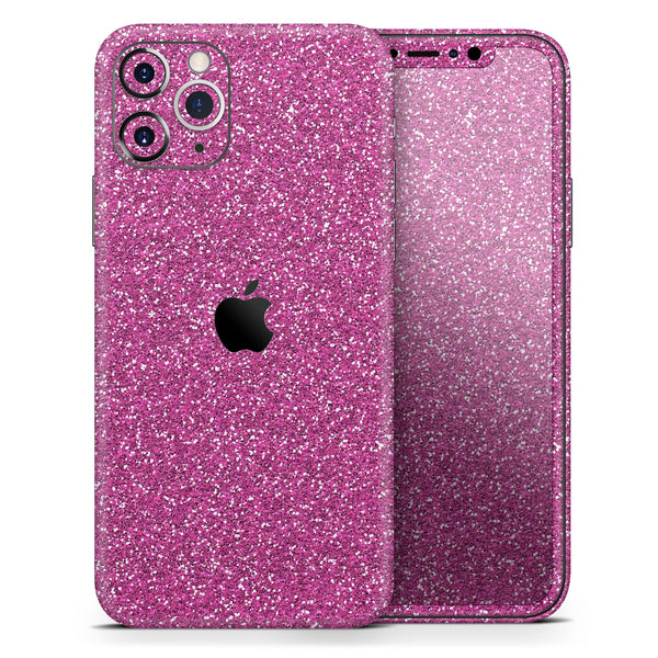 Sparkling Pink Ultra Metallic Glitter - Skin-Kit for the Apple iPhone 11, 11 Pro or 11 Pro Max