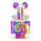 Spiral Tie Dye V1 - Full Body Skin Decal Wrap Kit for the Wireless Bluetooth Apple Airpods Pro, AirPods Gen 1 or Gen 2 with Wireless Charging