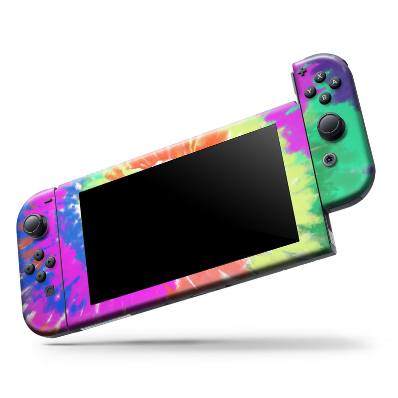 Spiral Tie Dye V1 - Full Body Skin Decal Wrap Kit for Nintendo Switch Console & Dock, Pro Controller, Switch Lite, 3DS XL, 2DS XL, DSi, Wii