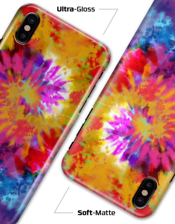 Spiral Tie Dye V8 - iPhone X Clipit Case