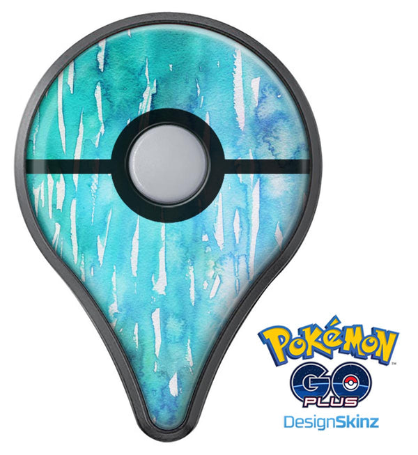 Splattered Blue 453 Absorbed Watercolor Texture Pokémon GO Plus Vinyl Protective Decal Skin Kit