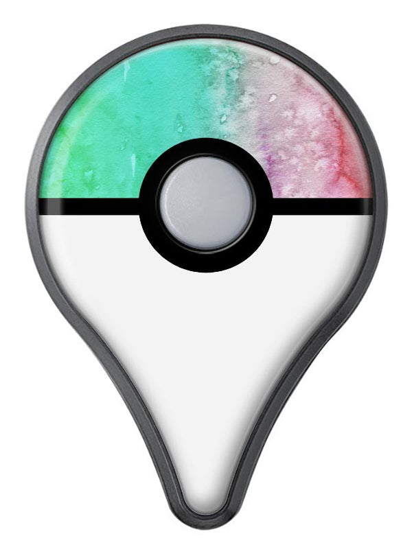 Splattered Mint Absorbed Watercolor Texture Pokémon GO Plus Vinyl Protective Decal Skin Kit