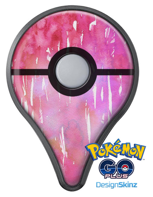 Splattered Pink 3 Absorbed Watercolor Texture Pokémon GO Plus Vinyl Protective Decal Skin Kit