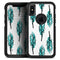 Splattered Teal Watercolor Feathers - Skin Kit for the iPhone OtterBox Cases