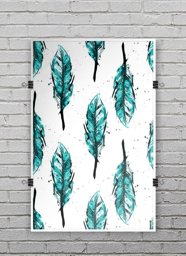 Splattered_Teal_Watercolor_Feathers_PosterMockup_11x17_Vertical_V9.jpg