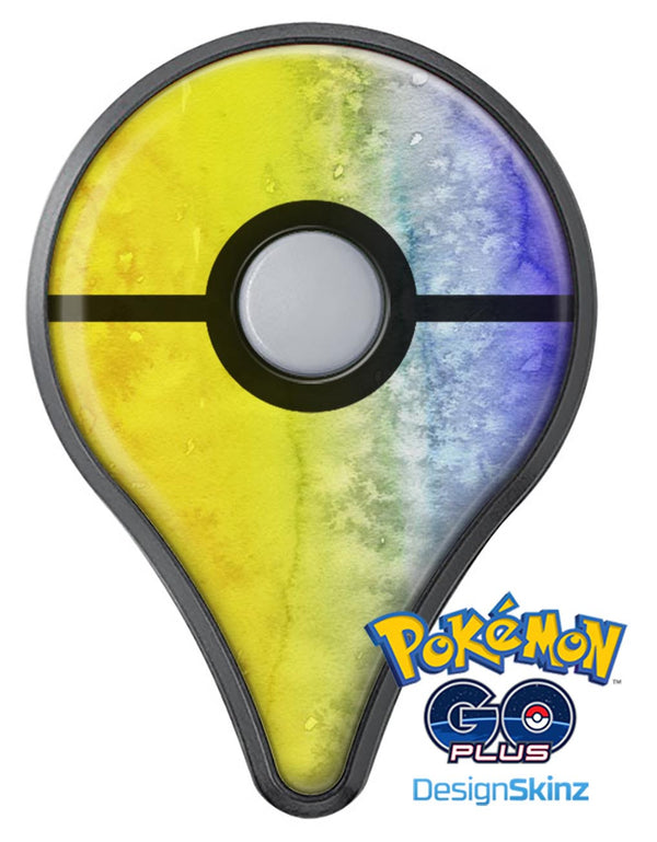 Splattered Yellow Absorbed Watercolor Texture Pokémon GO Plus Vinyl Protective Decal Skin Kit