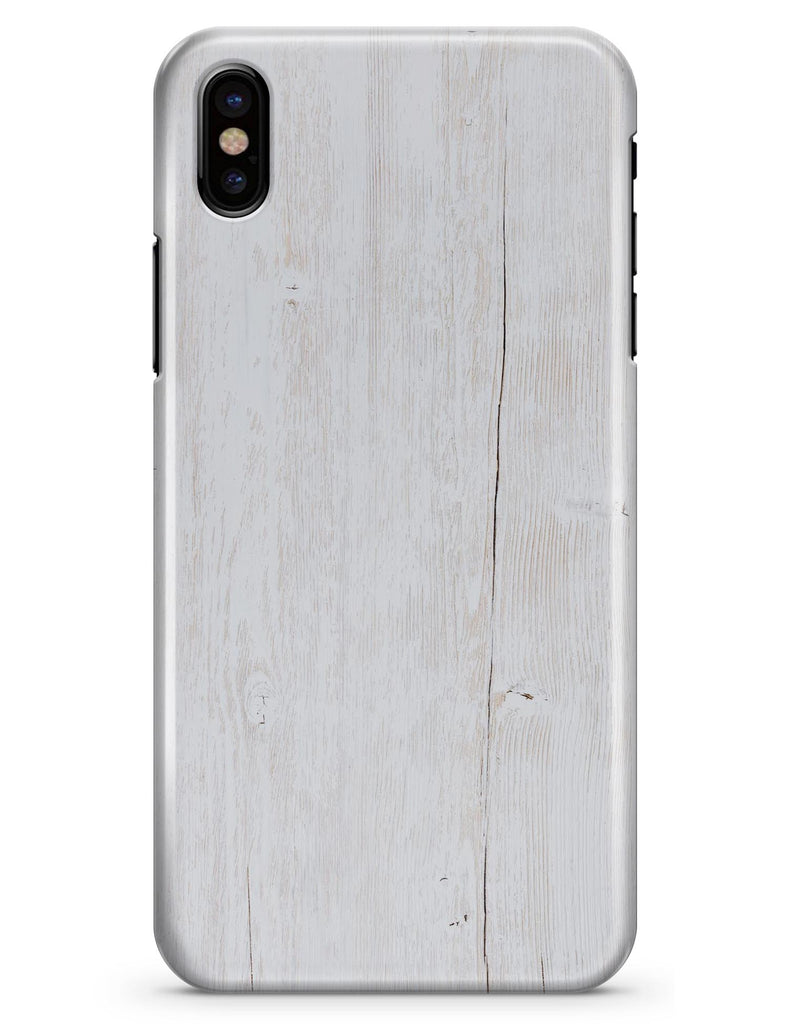 Splintered White Wood Planks - iPhone X Clipit Case