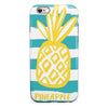 Striped Mint and Gold Pineapple iPhone 6/6s or 6/6s Plus 2-Piece Hybrid INK-Fuzed Case