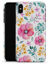 Subtle Watercolor Pink Floral - iPhone X Clipit Case