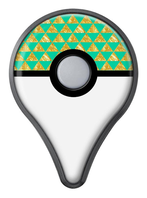 Summer Green and Gold v1 Pokémon GO Plus Vinyl Protective Decal Skin Kit