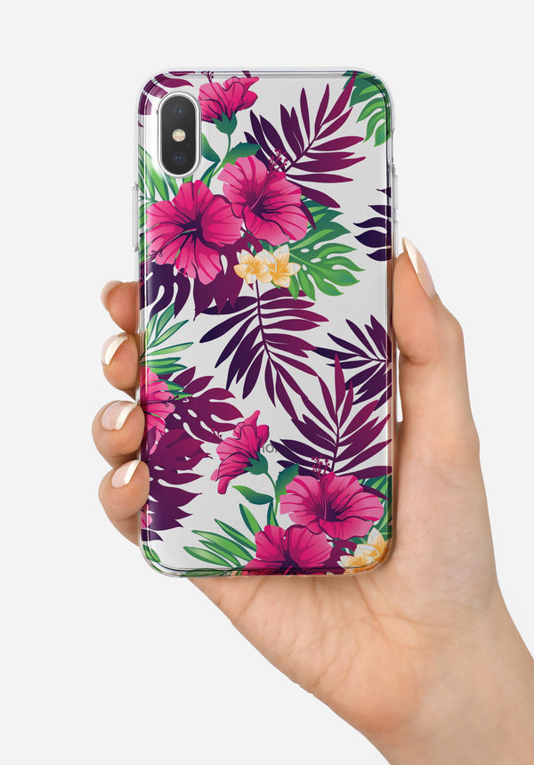 Summer Pineapple Seamless v2 - Crystal Clear Hard Case for the iPhone XS MAX, XS & More (ALL AVAILABLE)